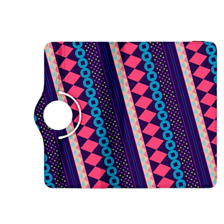 Purple And Pink Retro Geometric Pattern Kindle Fire HDX 8.9  Flip 360 Case