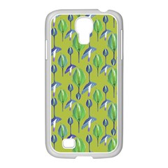 Tropical Floral Pattern Samsung GALAXY S4 I9500/ I9505 Case (White)