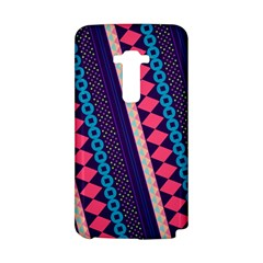 Purple And Pink Retro Geometric Pattern LG G Flex