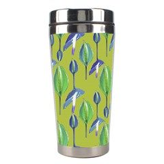 Tropical Floral Pattern Stainless Steel Travel Tumblers