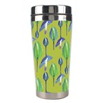 Tropical Floral Pattern Stainless Steel Travel Tumblers Left
