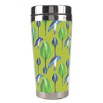 Tropical Floral Pattern Stainless Steel Travel Tumblers Center