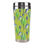 Tropical Floral Pattern Stainless Steel Travel Tumblers Right