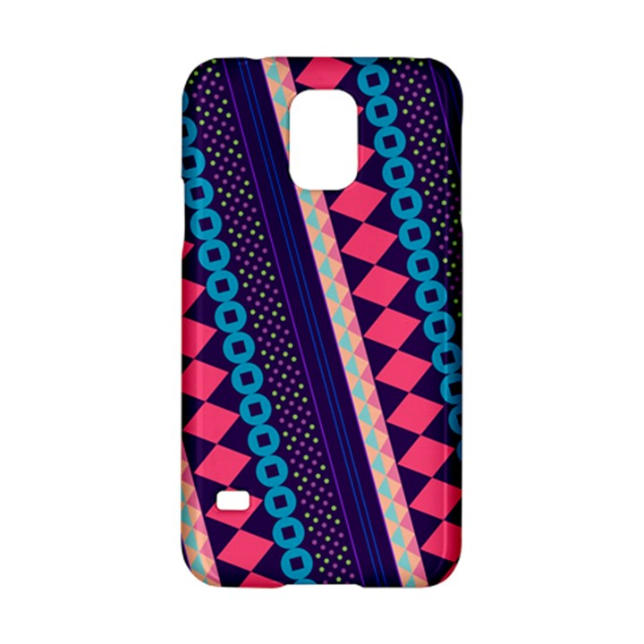 Purple And Pink Retro Geometric Pattern Samsung Galaxy S5 Hardshell Case