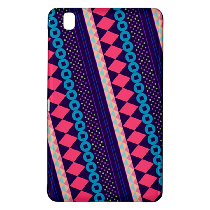 Purple And Pink Retro Geometric Pattern Samsung Galaxy Tab Pro 8.4 Hardshell Case