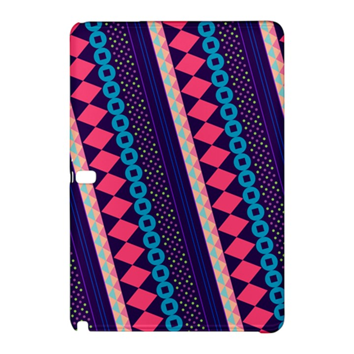 Purple And Pink Retro Geometric Pattern Samsung Galaxy Tab Pro 12.2 Hardshell Case