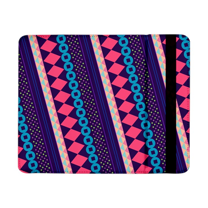 Purple And Pink Retro Geometric Pattern Samsung Galaxy Tab Pro 8.4  Flip Case