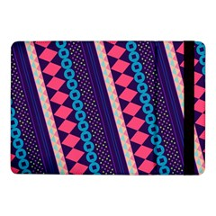 Purple And Pink Retro Geometric Pattern Samsung Galaxy Tab Pro 10 1  Flip Case