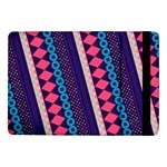 Purple And Pink Retro Geometric Pattern Samsung Galaxy Tab Pro 10.1  Flip Case Front