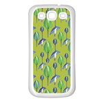 Tropical Floral Pattern Samsung Galaxy S3 Back Case (White) Front