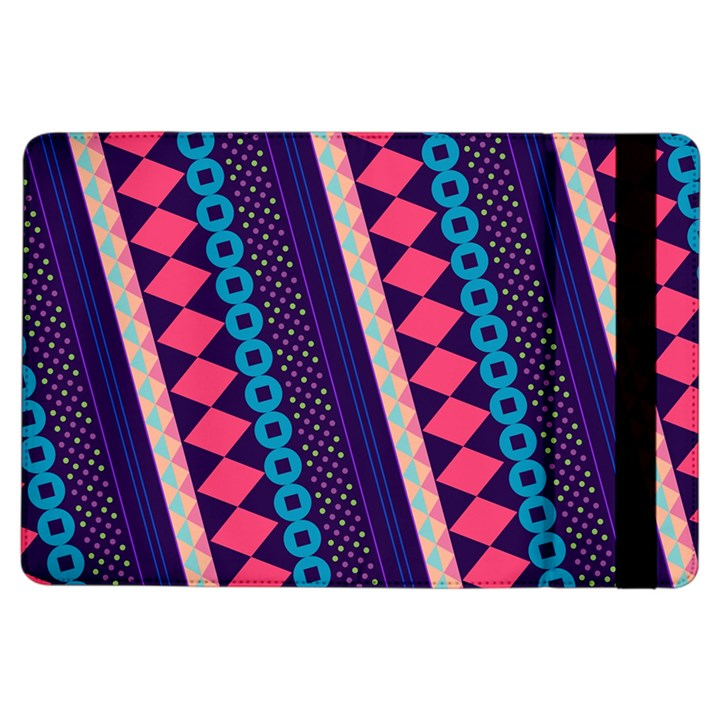 Purple And Pink Retro Geometric Pattern iPad Air Flip