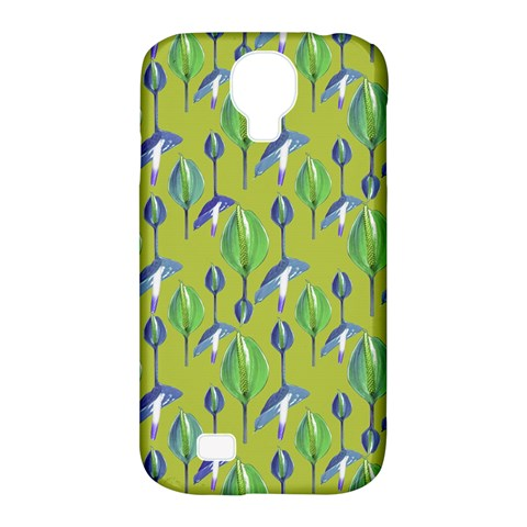 Tropical Floral Pattern Samsung Galaxy S4 Classic Hardshell Case (PC+Silicone)