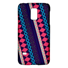 Purple And Pink Retro Geometric Pattern Galaxy S5 Mini