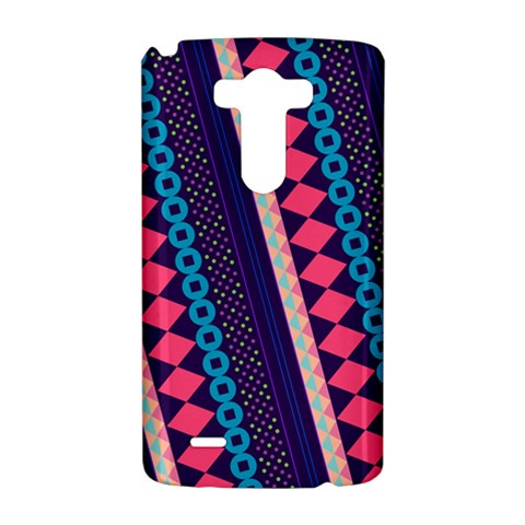 Purple And Pink Retro Geometric Pattern LG G3 Hardshell Case
