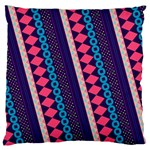 Purple And Pink Retro Geometric Pattern Large Flano Cushion Case (Two Sides) Back