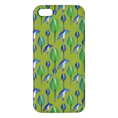 Tropical Floral Pattern iPhone 5S/ SE Premium Hardshell Case