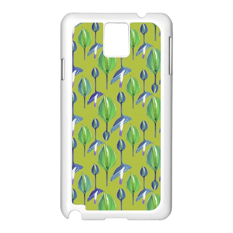 Tropical Floral Pattern Samsung Galaxy Note 3 N9005 Case (White)
