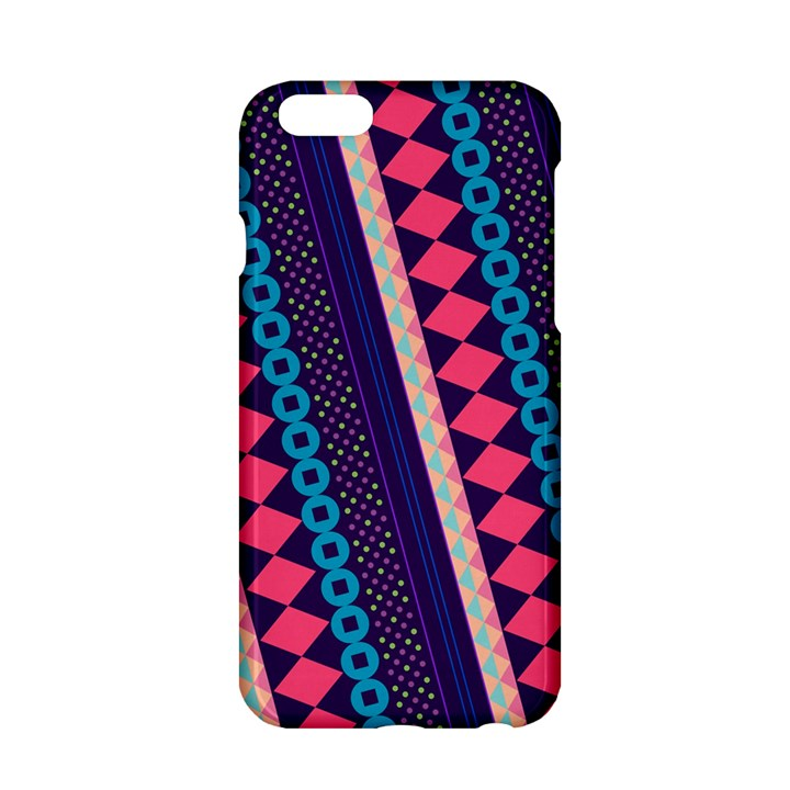 Purple And Pink Retro Geometric Pattern Apple iPhone 6/6S Hardshell Case