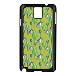 Tropical Floral Pattern Samsung Galaxy Note 3 N9005 Case (Black) Front