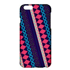 Purple And Pink Retro Geometric Pattern Apple Iphone 6 Plus/6s Plus Hardshell Case