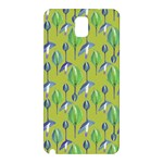 Tropical Floral Pattern Samsung Galaxy Note 3 N9005 Hardshell Back Case Front