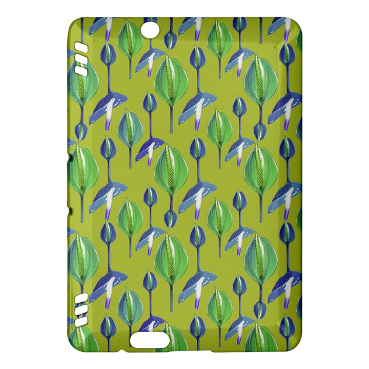 Tropical Floral Pattern Kindle Fire HDX Hardshell Case