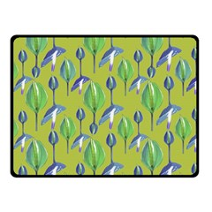 Tropical Floral Pattern Double Sided Fleece Blanket (Small)