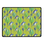 Tropical Floral Pattern Double Sided Fleece Blanket (Small)  45 x34 Blanket Front