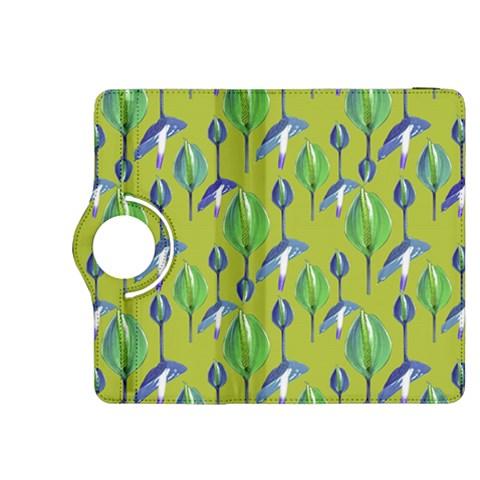 Tropical Floral Pattern Kindle Fire HDX 8.9  Flip 360 Case