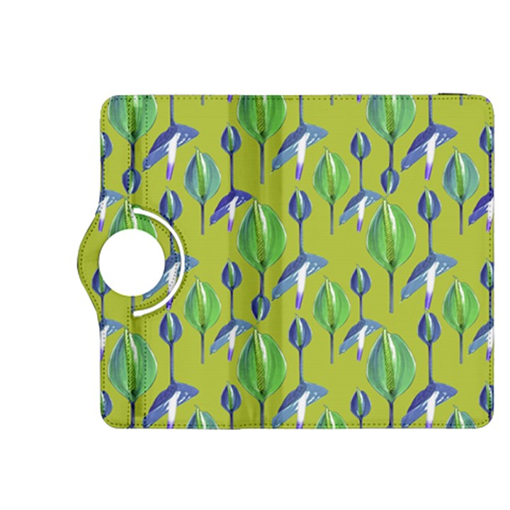 Tropical Floral Pattern Kindle Fire HDX 8.9  Flip 360 Case