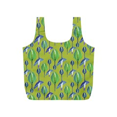 Tropical Floral Pattern Full Print Recycle Bags (S)