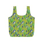 Tropical Floral Pattern Full Print Recycle Bags (S)  Back