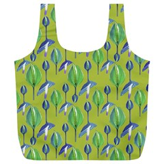 Tropical Floral Pattern Full Print Recycle Bags (L)