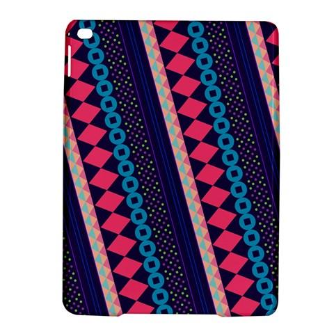 Purple And Pink Retro Geometric Pattern iPad Air 2 Hardshell Cases