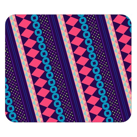 Purple And Pink Retro Geometric Pattern Double Sided Flano Blanket (Small)