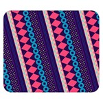 Purple And Pink Retro Geometric Pattern Double Sided Flano Blanket (Small)  50 x40 Blanket Front