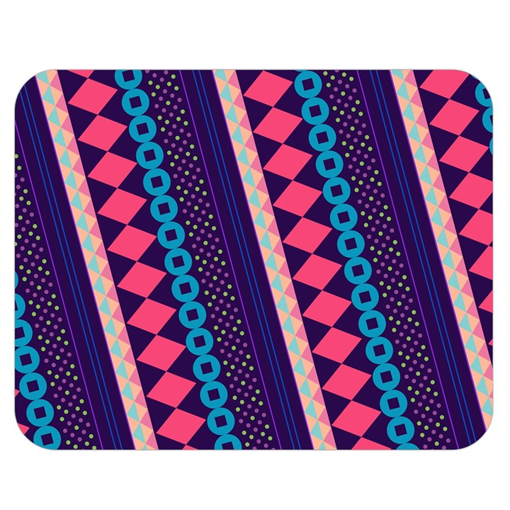 Purple And Pink Retro Geometric Pattern Double Sided Flano Blanket (Medium)