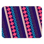 Purple And Pink Retro Geometric Pattern Double Sided Flano Blanket (Large)  80 x60 Blanket Front