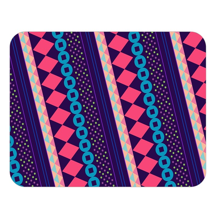 Purple And Pink Retro Geometric Pattern Double Sided Flano Blanket (Large)
