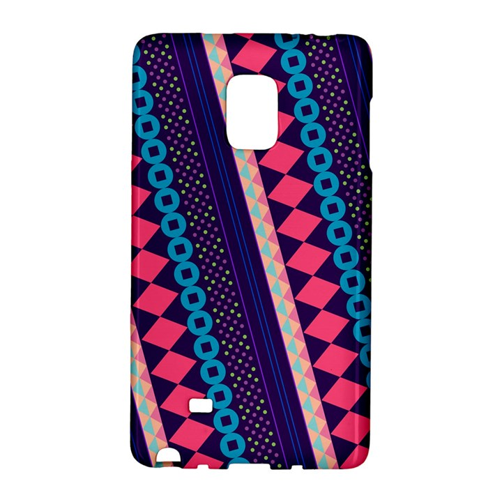 Purple And Pink Retro Geometric Pattern Galaxy Note Edge