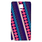 Purple And Pink Retro Geometric Pattern Galaxy Note 4 Back Case Front