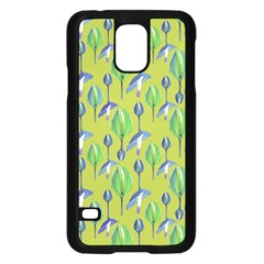 Tropical Floral Pattern Samsung Galaxy S5 Case (black)