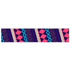Purple And Pink Retro Geometric Pattern Flano Scarf (Small)