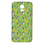 Tropical Floral Pattern Samsung Galaxy S5 Back Case (White) Front