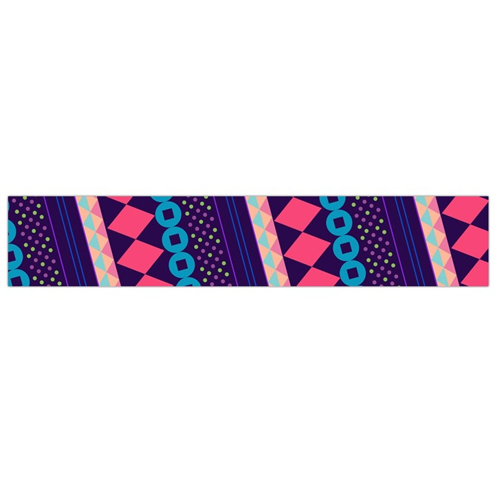 Purple And Pink Retro Geometric Pattern Flano Scarf (Large)