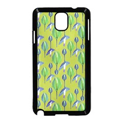Tropical Floral Pattern Samsung Galaxy Note 3 Neo Hardshell Case (Black)