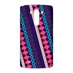 Purple And Pink Retro Geometric Pattern LG G3 Back Case Front