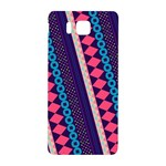 Purple And Pink Retro Geometric Pattern Samsung Galaxy Alpha Hardshell Back Case Front