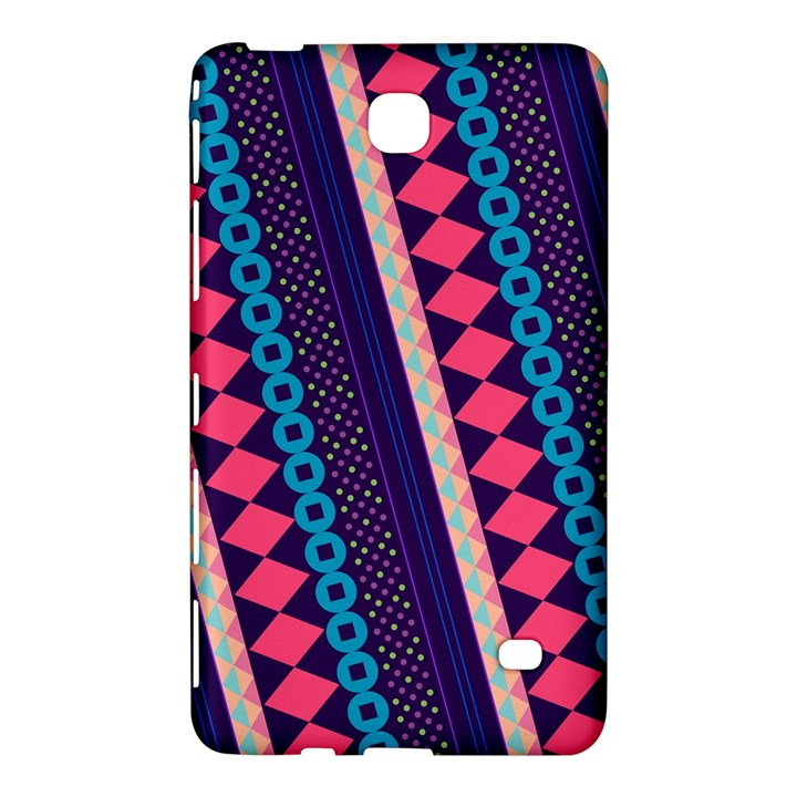 Purple And Pink Retro Geometric Pattern Samsung Galaxy Tab 4 (8 ) Hardshell Case