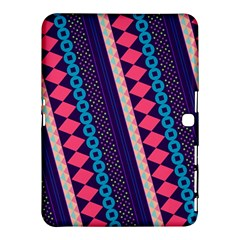 Purple And Pink Retro Geometric Pattern Samsung Galaxy Tab 4 (10.1 ) Hardshell Case